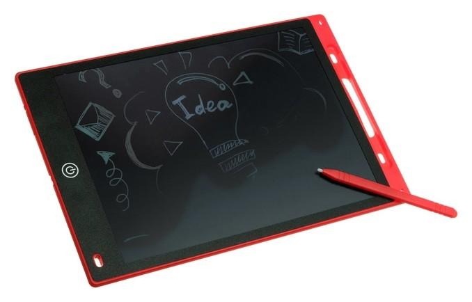 """Планшет для рисования и заметок Luazon Lc-03 12"""", функция блокировки, красный  LuazON"""