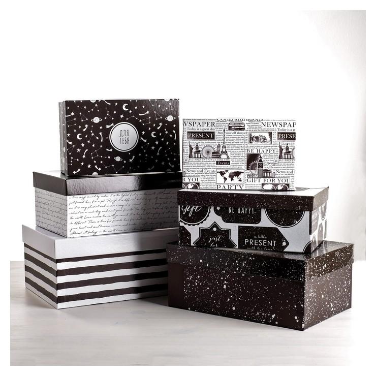 Набор подарочных коробок 6 в 1 «Универсальный», 20 х 12,5 х 7,5 - 32,5 х 20 х 12,5 см  Дарите счастье