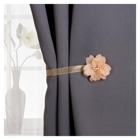 Подхват для штор «Нежный цветок», D = 6 см, цвет бежевый  Арт узор