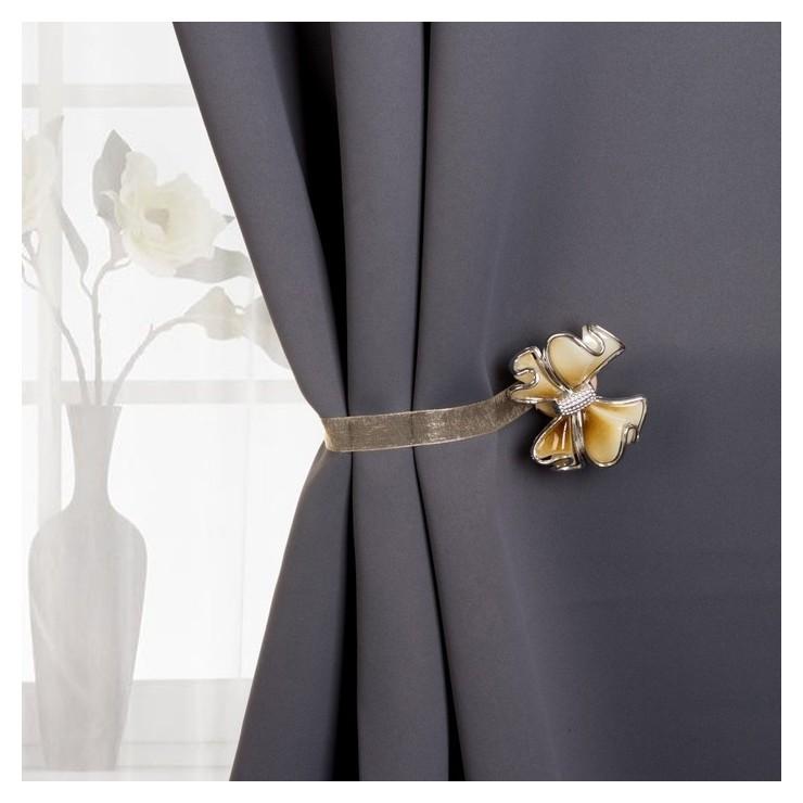 Подхват для штор «Бант», 6 × 5 см, цвет бежевый  Арт узор