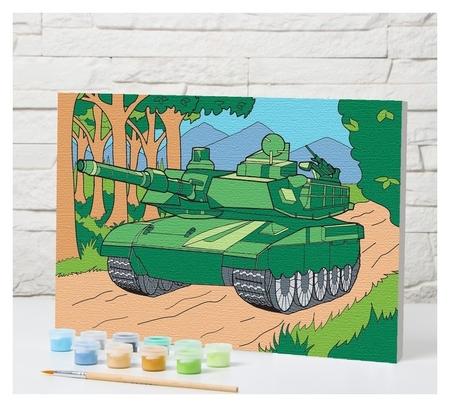 Картина по номерам «Танк» 20×30 см  Школа талантов