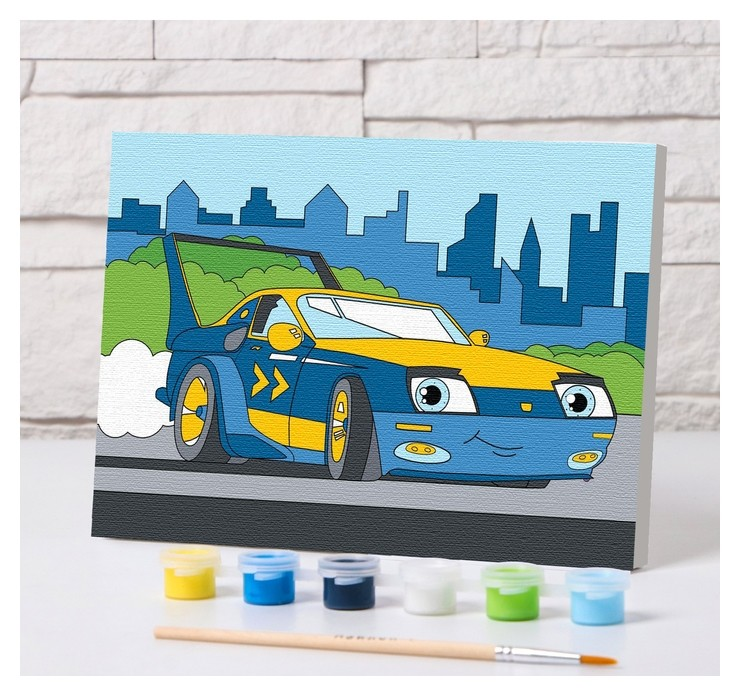Картина по номерам «Спорткар» 21×15 см  Школа талантов