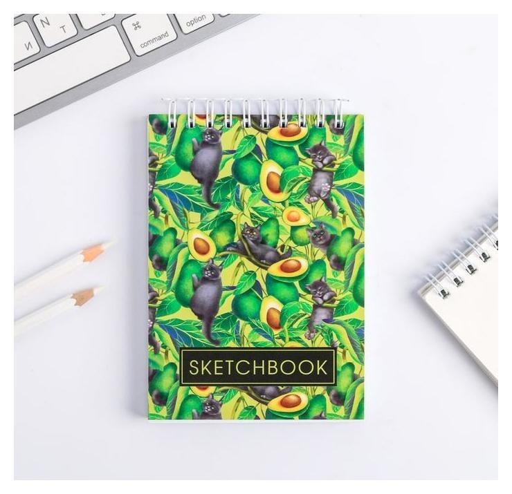 Скетчбук Sketchbook Avocado А6, 80 листов  ArtFox