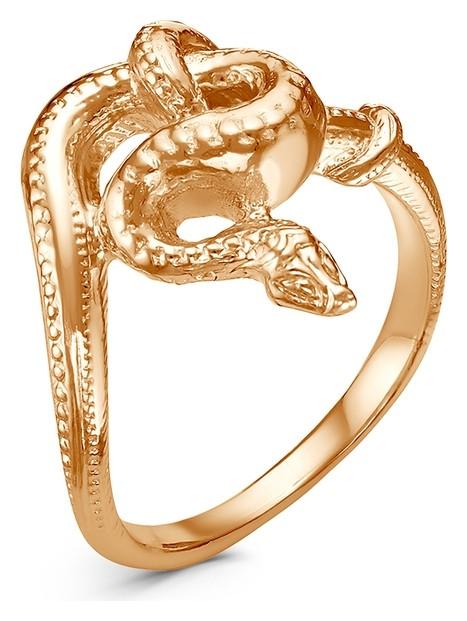 """Кольцо """"Змея"""" узел, позолота, 18,5 размер  Красная пресня"""