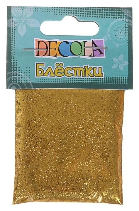 Декор блёстки ЗХК Decola 0.3 мм, 20 г, золото майя  Невская палитра