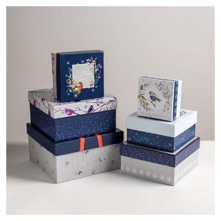 Набор подарочных коробок 6в1 «Новогодний», 10 × 10 × 6 - 20 × 20 × 11 см  Дарите счастье