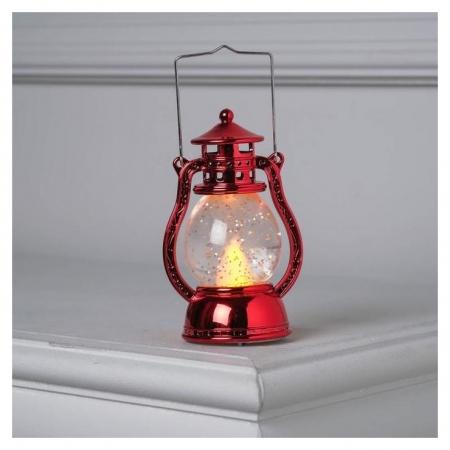 "Фигура световая ""Красный фонарь"", 12х7,5х5см, от батареек 3xlr44, т/белый  LuazON"
