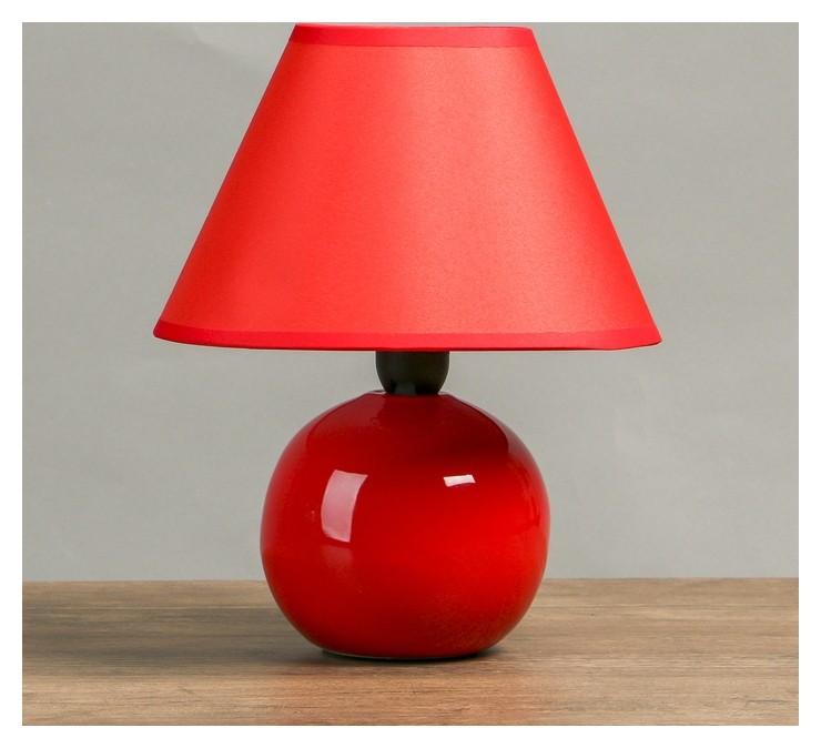 Лампа настольная Е14 25W Шар красный 17х17х24 см КНР