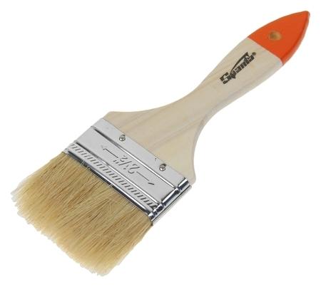 Кисть плоская Sparta Slimline, 63 мм, ручка дерево, натуральная щетина  Sparta