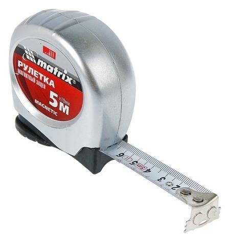 Рулетка Matrix Magnetic, 5 м х 19 мм, магнитный зацеп  Matrix