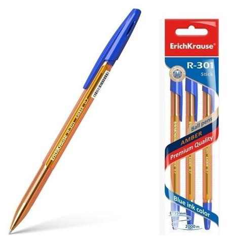 Набор ручек шариковых 3 штуки R-301 Amber Stick  Erich krause