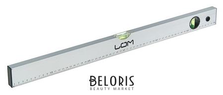 Уровень алюминиевый Lom, 2 глазка, линейка, 600 мм