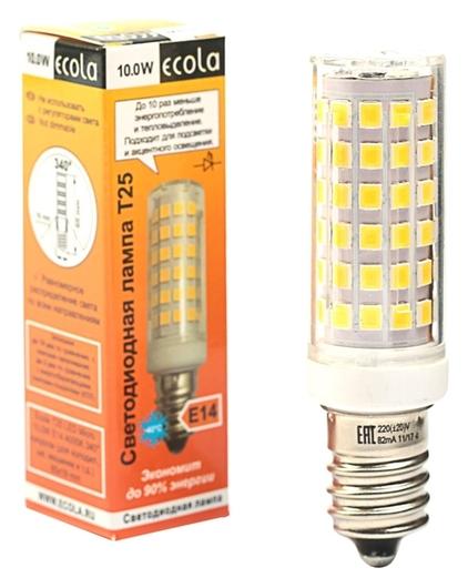 Лампа светодиодная Ecola, T25, 10 Вт, E14, 4000 K, 340°, для холодильников и швейных машин  Ecola