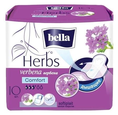 Гигиенические прокладки Bella Herbs Komfort с экстрактом вербены, 10 шт  Bella
