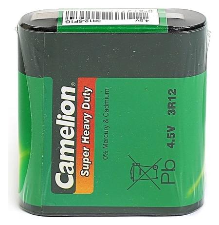 Батарейка солевая Camelion Super Heavy Duty, 3r12-1s (3r12-sp1g), 4.5в, спайка, 1 шт.  Camelion
