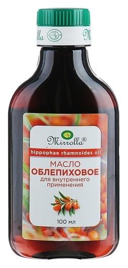 Масло облепиховое пищевое Mirrolla 100 мл. Mirrolla