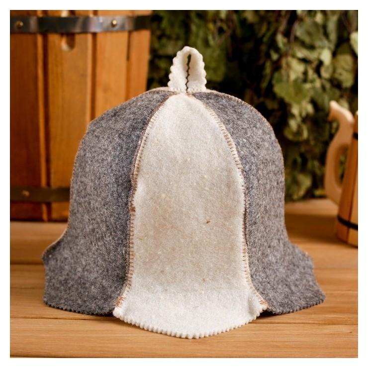"""Колпак для бани шапка """"Колокольчик"""", войлок, комбинированная  Добропаровъ"""