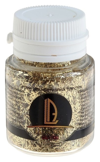 Декоративные блёстки Luxart Luxglitter (Сухие), 20 мл, палочки, золото  Luxart