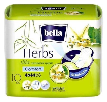 Гигиенические прокладки Bella Herbs Komfort с экстрактом липы, 10 шт  Bella