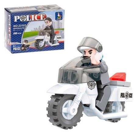 Конструктор «Полицейский мотоцикл», 26 деталей  Ausini