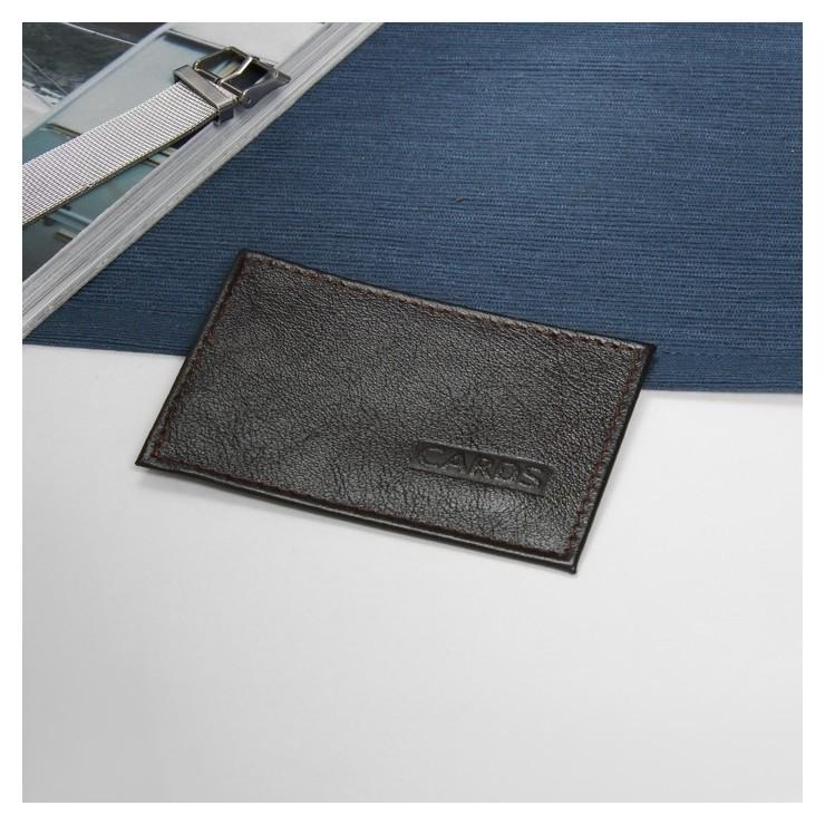 Футляр для карточки, цвет коричневый  Cayman