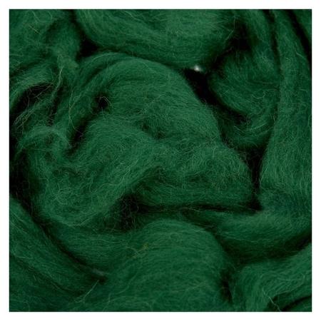 Шерсть для валяния (110 тёмно-зелёный), 50 г  Камтекс