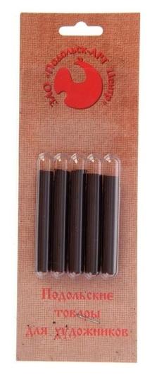 Сепия тёмная, 5 штук, в блистере  Подольские товары для художников