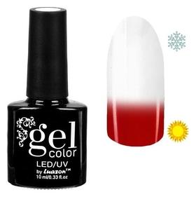 Топ-термо для ногтей, трёхфазный Led/uv, 10мл, цвет прозрачный/красный  Luazon
