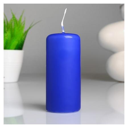 Свеча классическая 4х9 см голубая ОСЗ