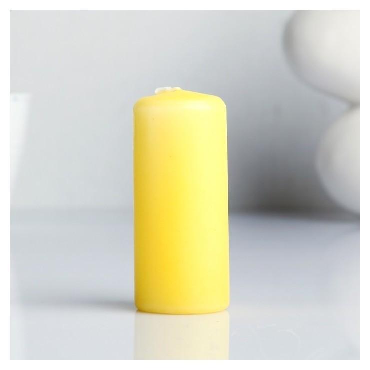 Свеча пеньковая ароматическая Персик 4 х 9 см  Омский свечной завод