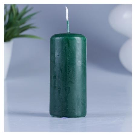 Свеча классическая 4х9 см тёмно-зелёная ОСЗ