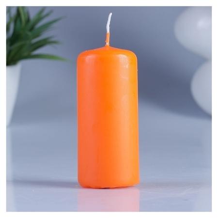Свеча пеньковая ароматическая Апельсин 4 х 9 см  Омский свечной завод