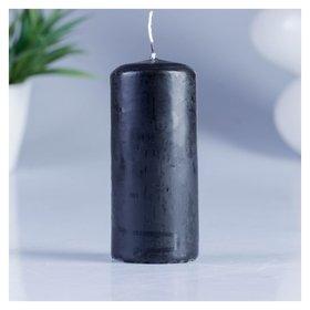 Свеча классическая 4х9 см чёрная  Омский свечной завод