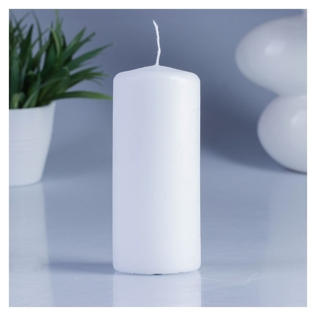 Свеча классическая 5х11,5 см белая  Омский свечной завод