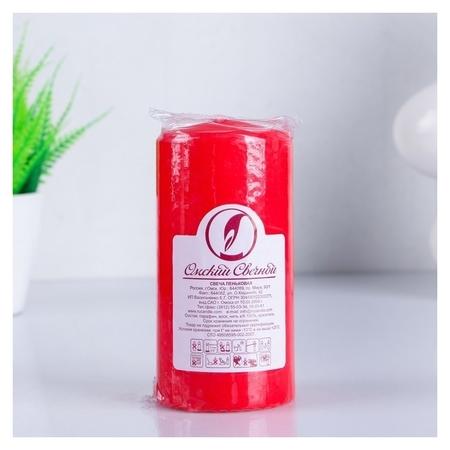 Свеча классическая 6х12,5 см красная  Омский свечной завод