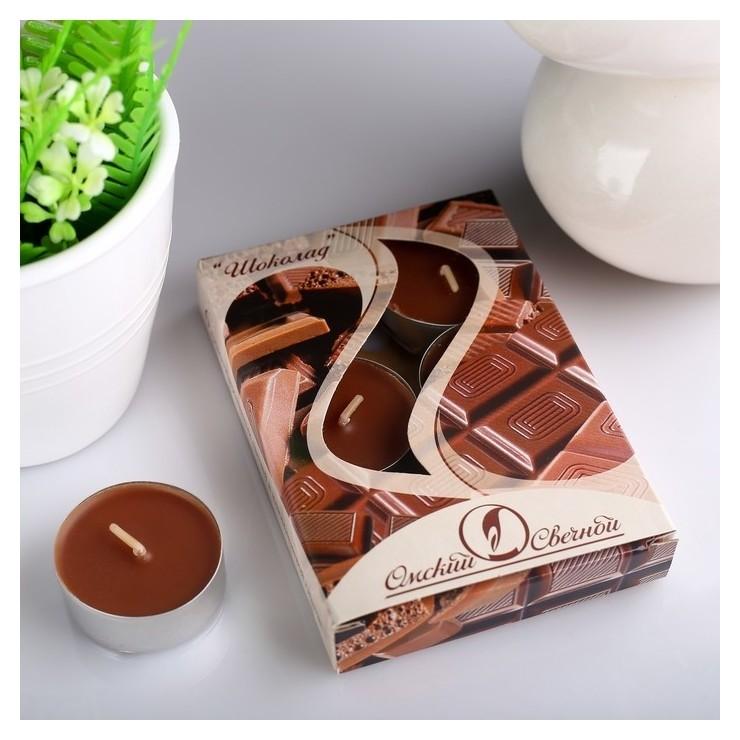 Набор чайных свечей ароматизированных Шоколад  Омский свечной завод