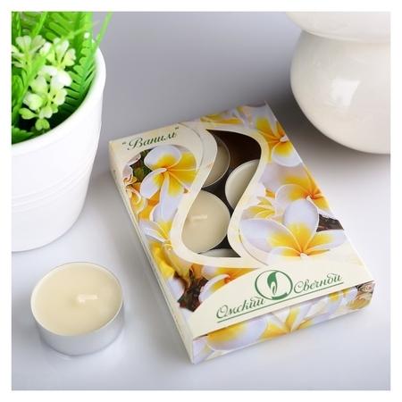 Набор чайных свечей ароматизированных Ваниль Омский свечной завод