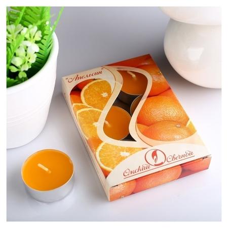 Набор чайных свечей ароматизированных Апельсин