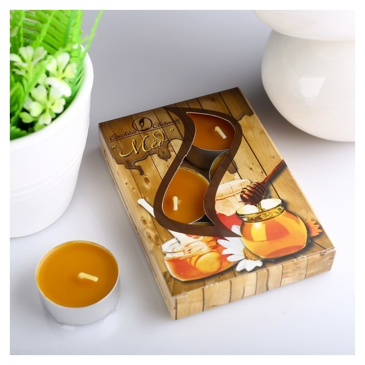 Набор чайных свечей ароматизированных Мёд Омский свечной завод