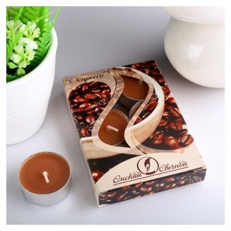 Набор чайных свечей ароматизированных Эспрессо  Омский свечной завод