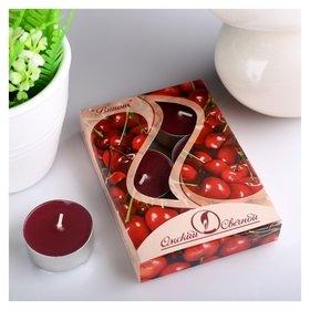 Набор чайных свечей ароматизированных «Вишня», 12 г, 6 штук  Омский свечной завод