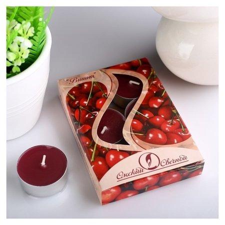 Набор чайных свечей ароматизированных Вишня  Омский свечной завод