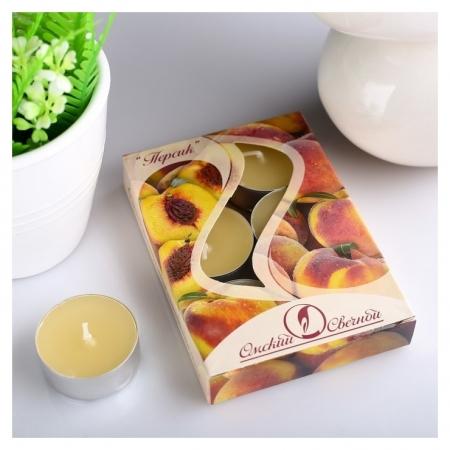 Набор чайных свечей ароматизированных Персик