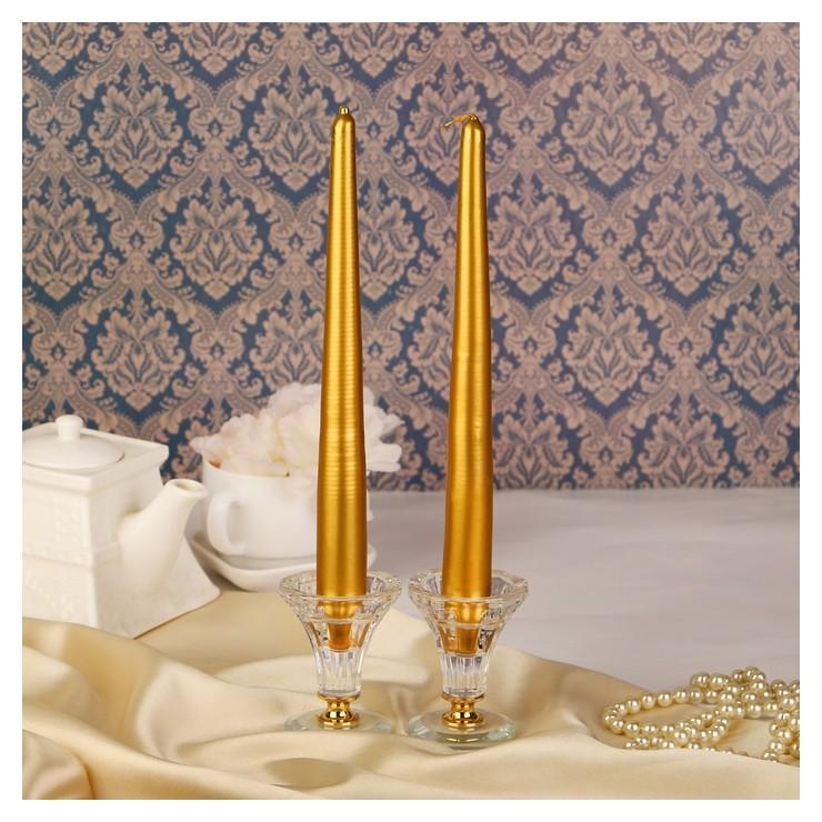 Набор свечей античных 2,3х 24,5 см Золотой  Омский свечной завод