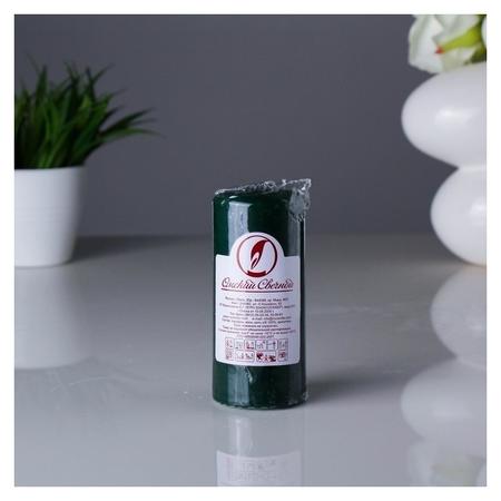 Свеча пеньковая 50х115 см темно-зеленая  Омский свечной завод