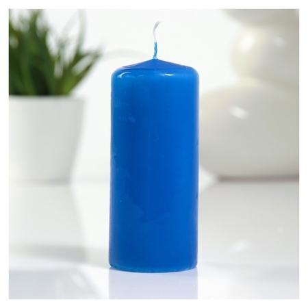 Свеча пеньковая 50х115 см синяя  Омский свечной завод