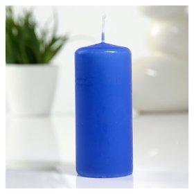 Свеча пеньковая 50х115 см голубая  Омский свечной завод
