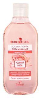 Лосьон-тоник Pure Nature Витаминный розовая вода для сияния кожи Флоресан (Floresan)