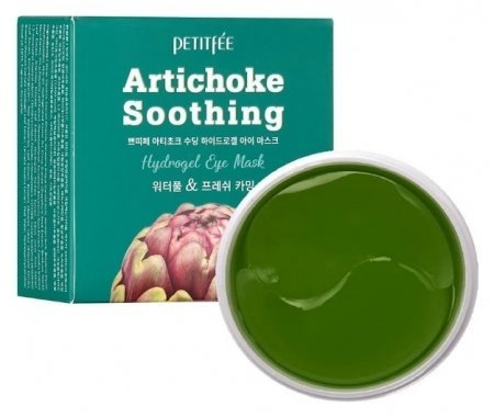 Гидрогелевые патчи для глаз с артишоком Artichoke Soothing Hydrogel Eye Mask  Petitfee