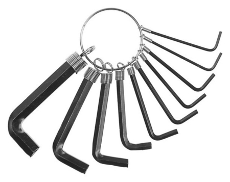 Набор ключей шестигранных на кольце Tundra, 1.5 - 10 мм, 10 шт.  Tundra
